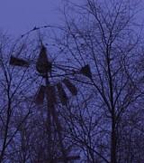 Midnight Windmill Print by Todd Sherlock