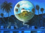 Night Sky Painting Framed Prints - Midnights Dream in Los Feliz Framed Print by Susi Galloway