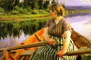 Midsummer Framed Prints - Midsummer 1891 Framed Print by Anders Zorn