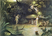 Fairies Posters - Midsummers Night Dream Poster by Francis Danby