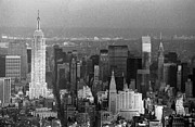 Old Photos Framed Prints - Midtown Manhattan 1980s Framed Print by Gary Eason