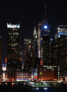 Midtown Photo Prints - Midtown Manhattan at Night Print by Philip Ralley