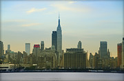 Midtown Digital Art Framed Prints - Midtown Manhattan Cityscape Framed Print by Bill Cannon