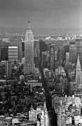 Greyscale Prints - Midtown Manhattan winter 1980s Print by Gary Eason