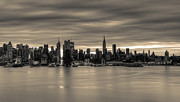 New York City Skyline Framed Prints - Midtown Morning Framed Print by David Hahn
