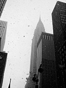 Blizzard New York Framed Prints - Midtown New York City Snow in February Framed Print by Rosemary Hawkins