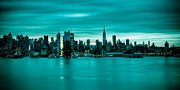 New York City Skyline Framed Prints - Midtown Pano Framed Print by David Hahn