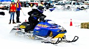 Winter Sports Picture Prints - Midway BC Snow Drags - 25 Print by Don Mann
