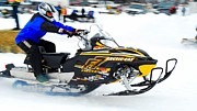 Ski Racing Art Prints - Midway BC Snow Drags - 26 Print by Don Mann