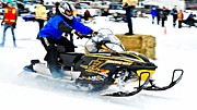 Ski Racing Art Prints - Midway BC Snow Drags - 27 Print by Don Mann