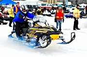 Ski Racing Art Prints - Midway BC Snow Drags - 28 Print by Don Mann
