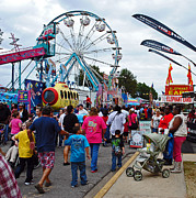 Local Fairs Prints - Midway Print by Skip Willits