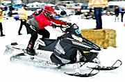 Winter Sports Picture Prints - Midway Snow Drags - 20 Print by Don Mann