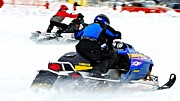 Winter Sports Picture Prints - Midway Snow Drags - 21 Print by Don Mann