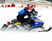 Winter Sports Picture Prints - Midway Snow Drags - 22 Print by Don Mann