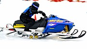 Winter Sports Picture Prints - Midway Snow Drags - 23 Print by Don Mann