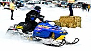 Winter Sports Picture Prints - Midway Snow Drags - 24 Print by Don Mann