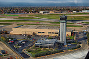 Midway Airport Prints - Midway Tower Chicago AirPlanes 05 Print by Thomas Woolworth