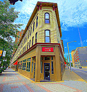 Architecture Digital Art Originals - Midwest Flat Iron Building by Garry Schmidt