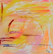 Corn Paintings - Midwest Sunrise by PainterArtist FIN