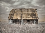 Barn Storm Art - Midwestern Barn by Jane Linders