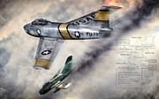 Sabre Prints - MiG Alley Print by Peter Chilelli