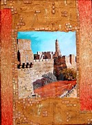 Jerusalem Mixed Media Posters - Migdal David Poster by Reli Wasser
