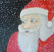Santa Claus Paintings - Might Snow by Gordon Wendling