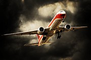 Boeing 777 Prints - Mighty 7s Print by Paul Job
