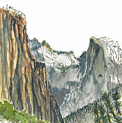 Yosemite Paintings - Mighty Yosemite by Terry Banderas