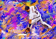 Baseball Paintings - Miguel Cabrera 6 by Donald Pavlica