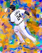 Baseball Paintings - Miguel Cabrera 7 by Donald Pavlica