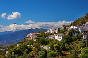 Mediterranean Landscape Posters - Mijas. White Village of Spain Poster by Jenny Rainbow