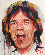 Blues Singers Paintings - Mike - 1 by Tachi Pintor