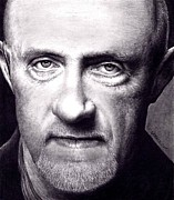 Jonathan Framed Prints - Mike Ehrmantraut - Breaking Bad Framed Print by Rick Fortson