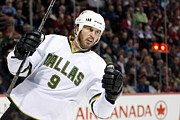 Mike Photo Posters - Mike Modano goal celebration Poster by Sanely Great