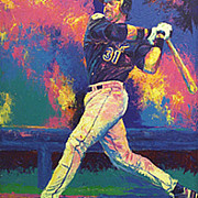Mets Paintings - Mike Piazza by Brent Benger