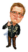 Caricatures Painting Prints - Mike Smith as Bubbles Print by Art