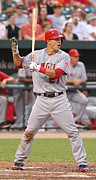Baseball Bat Photo Prints - Mike Trout Poster Print by Sanely Great