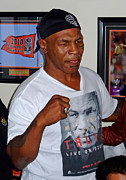 Tattoo Art - Mike Tyson at ManCave Memorabilia  by Jim Fitzpatrick