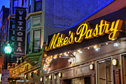Italian Restaurant Photo Posters - Mikes Pastry Shop - Boston Poster by Joann Vitali