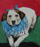 Animal Portrait Pastels - Mikey by Jeanne Fischer