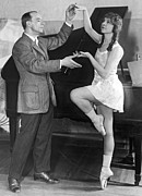 Ballet Dancers Art - Mikhail Mordkin And Student by Underwood Archives