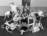Ballet Dancers Art - Mikhail Mordkin And Students by Underwood Archives