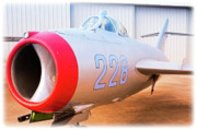 Vietnam Air War Art Metal Prints - Mikoyan Gurevich MiG-17F Metal Print by Charles Dobbs