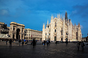 Old Milano Prints - Milan Cathedral Italy Print by Michal Bednarek