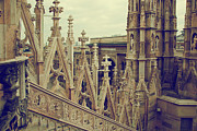 Old Milano Photos - Milan Cathedral Vittorio Emanuele II Gallery Italy by Michal Bednarek