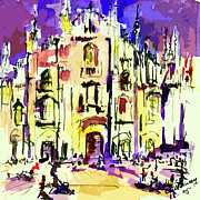Milan Italy Cathedral Abstract Art By Ginette Print by Ginette Fine Art LLC Ginette Callaway