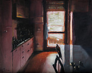 Italian Kitchen Paintings - Milan Italy Cucina di Lorenza by Christopher Clark
