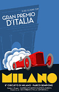 Old Milano Prints - Milan Italy Grand Prix 1937 Print by Nomad Art And  Design